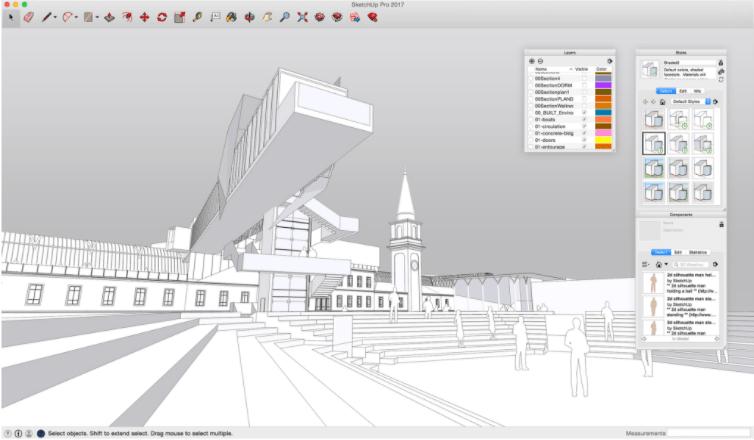 Phần mềm thiết kế kết cấu thép SketchUp
