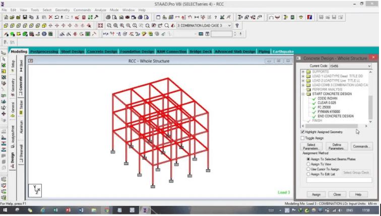 Phần mềm thiết kế kết cấu thép Staad