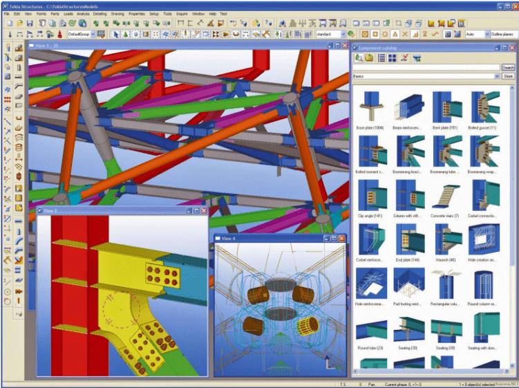 Phần mềm thiết kế kết cấu thép Tekla