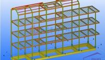 Model of pre-engineered steel buildings
