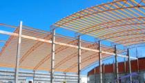 The workshop is built by steel structure