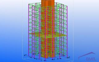 High-rise steel structure design