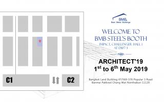 WELCOME TO BMB STEEL'S BOOTH AT THAI ARCHITECT 2019