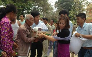CHARITY WORKS AT CAMBODIA