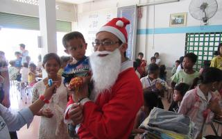 Christmas gifts for poor child in HCMC, Cambodia & Myanmar Office