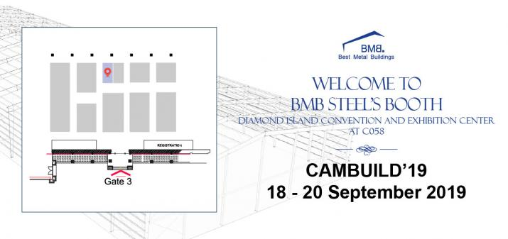 WELCOME TO BMB STEEL'S BOOTH AT CAMBUILD'19